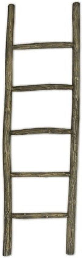 bol.com   Teakea Houten decoratie ladder   Rustiek bruin 150 x 5 50 cm