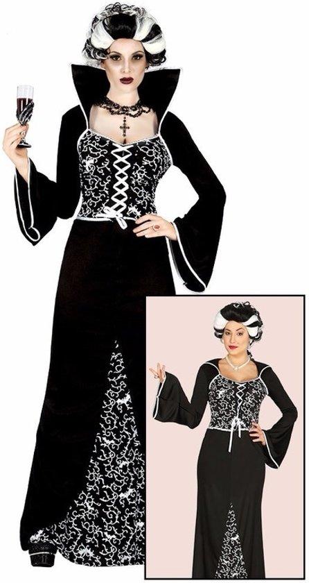 Top bol.com | Halloween - Luxe vampieren jurk / kostuum zwart/wit voor #QR98