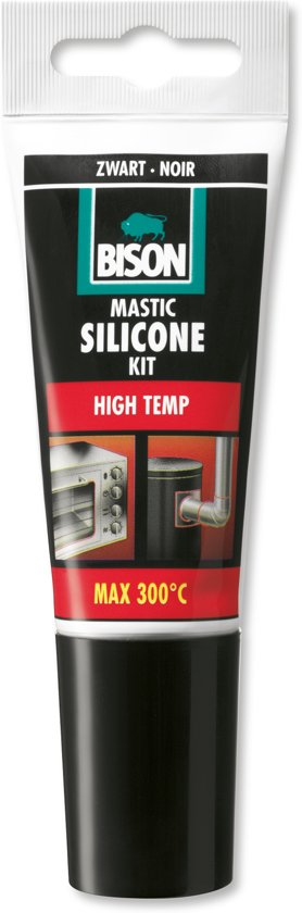 Bison Siliconenkit High Temp - Zwart - 60 ml
