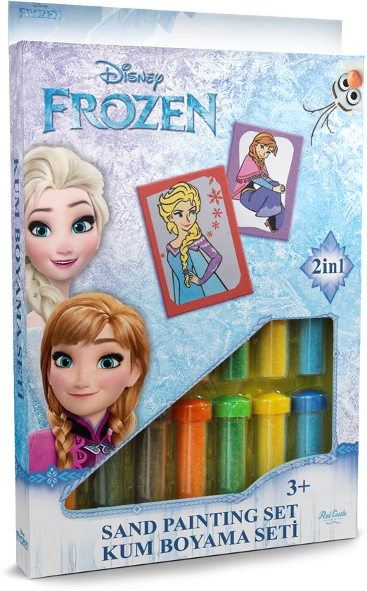 Bolcom Disney Frozen Elsa Anna ǀ 2in1 Sand Painting Art Set
