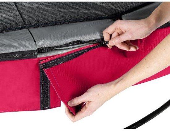 EXIT Elegant trampoline ø366cm met veiligheidsnet Deluxe - rood