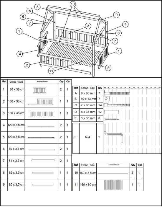 Huisbed huisje| Kinderbed| Hout | met hek | 160 x 80 cm