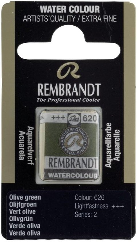Rembrandt water colour napje Olive Green (620)