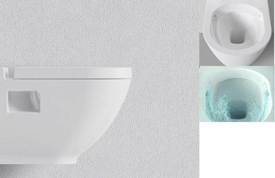 Toilet Zonder Spoelrand : Bol sanitear harmony zonder spoelrand wandcloset met bidet