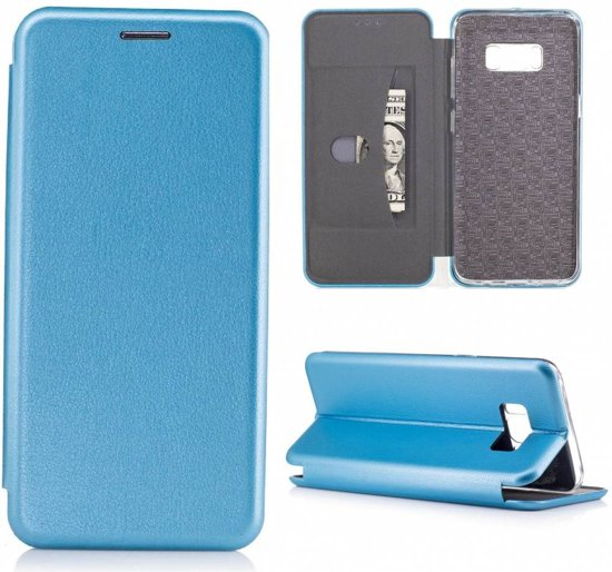 00416e3ae4d GSMWise - Samsung Galaxy S8 - Luxe Lyche Flipcover Hoesje Book Cover - Blauw