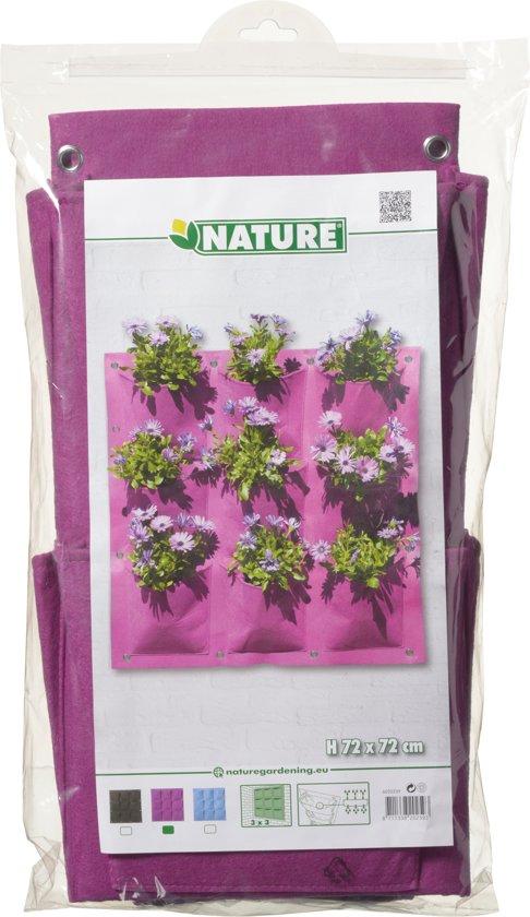 Nature - Plantentas - Paars - 9 zakken - 72 x 72 cm