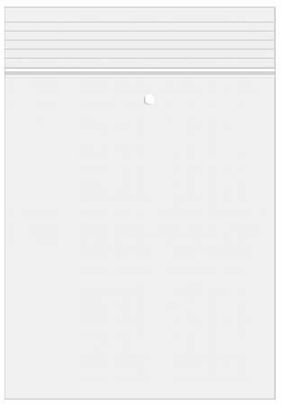 Gripzakken 10x12.5cm met Luchtgat, Kristalheldere PP 50 micron (100 st) [ZC45V]