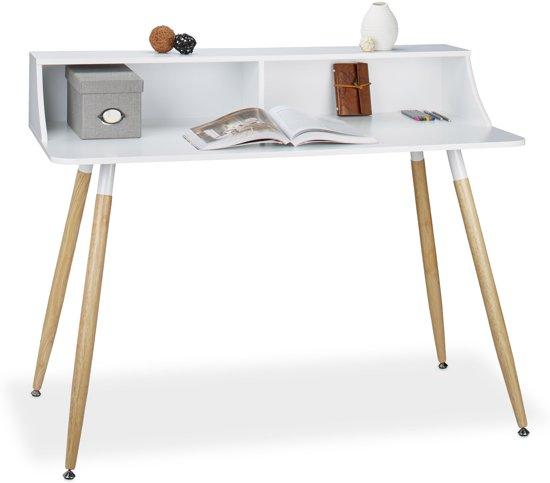 Bureau Scandinavisch Design.Bol Com Relaxdays Computertafel Bureau Werktafel 2 Vakken
