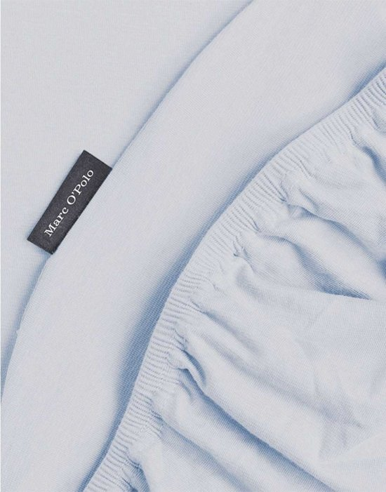 Marc O'Polo Jersey Stretch - Hoeslaken - Tweepersoons - 140/160x200/220 cm - Pastel blue