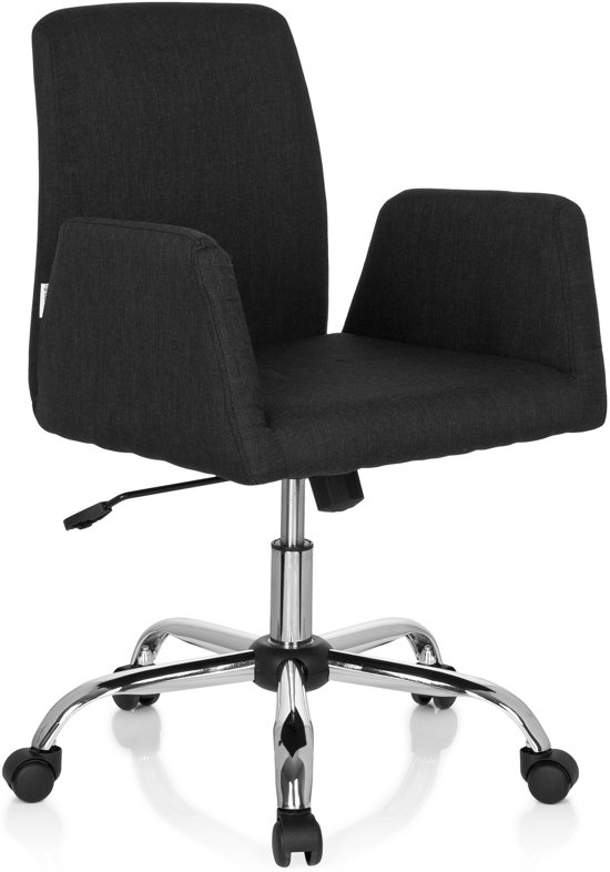 hjh office Flow - Bureaustoel - Stof - Zwart