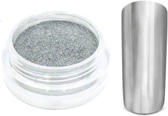 Nail art Chrome pigment zilver(spiegel effect)