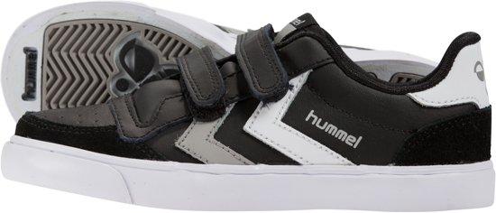 Hummel Stadil Jr Cuir Bas - Chaussures - Enfants - Noir / Blanc / Gris - Taille 30 r04XuNsP