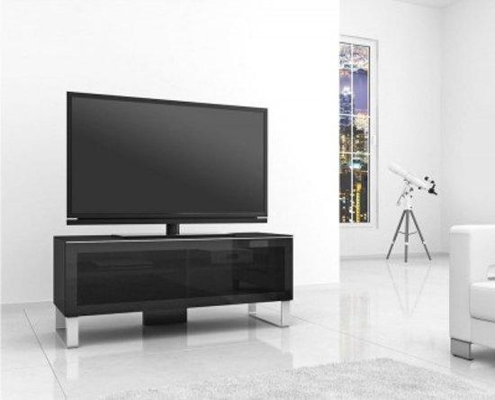 Smalle Tv Meubel : Bol elmob exclusive small tv meubel zwart hout metaal glas