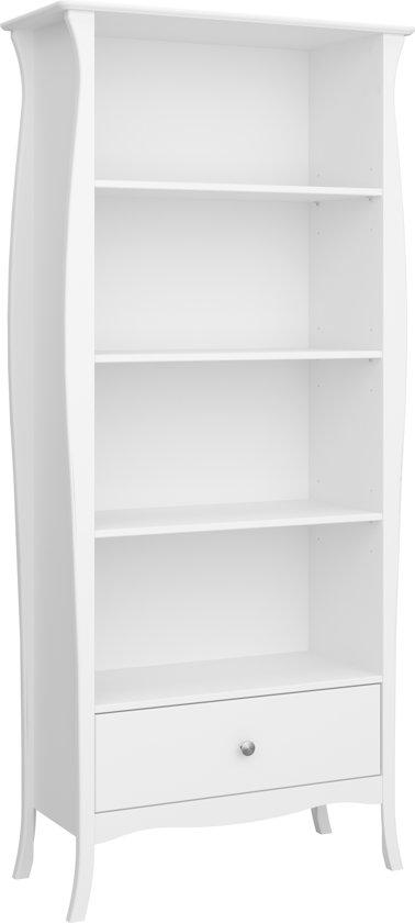 Boekenkast Wit Met Lade.Cher Boekenkast Met 4 Planken En 1 Lade In Wit