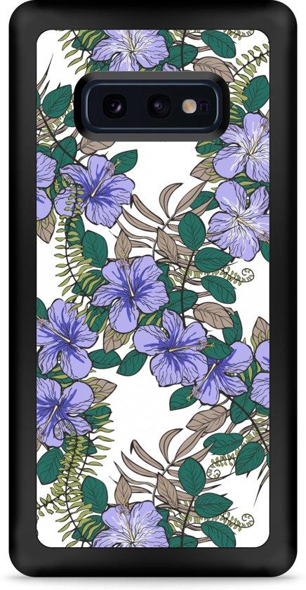 Galaxy S10e Hardcase hoesje Purple Flowers