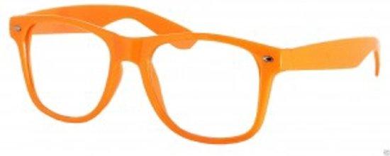 2e688dec304f0a Wayfarer model nerdbril zonder sterkte - oranje