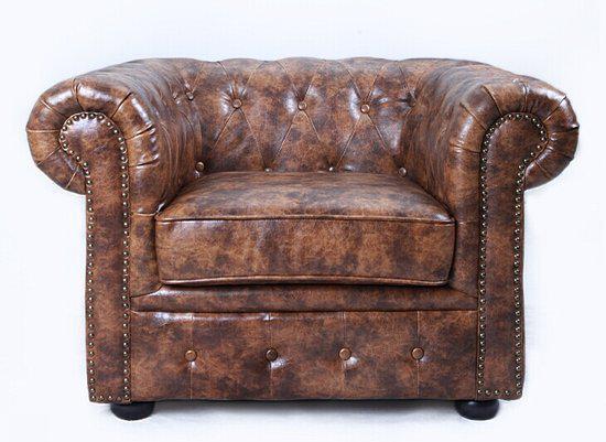 original chesterfield springvale salon bruin. Black Bedroom Furniture Sets. Home Design Ideas
