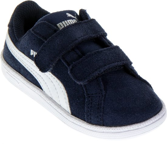 06bad559f1e bol.com | Puma Smash Fun SD V Sneakers - Maat 21 - Jongens - blauw/wit