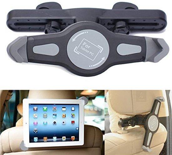 Autohouder Hoofdsteun Tablet Houder voor Voor o.a. iPad 2 3 4 Mini Air 1 2 Pro / Samsung Galaxy Tab A E S2 7 8 en 10.1 Inch
