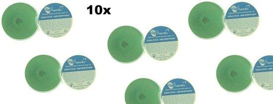 10x Superstar Metallic Groen 16 gram Voordeel verpakking