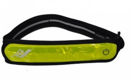 Rucanor Reflective - Armband - Set - LED - Reflectie - Regelbaar -  Fluorgeel