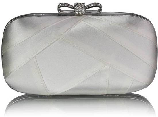 Mt Ivory Satin Clutch Evening Bag