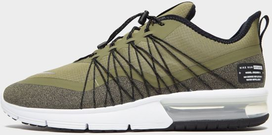 e61d2e79b60 Nike Air Max Sequent 4 Utility Sneakers Heren - Med Olive/Mtlc Silver-Black