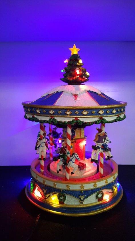 bol.com | Kerstdorp Kerst Carrousel - met verlichting, beweging en ...