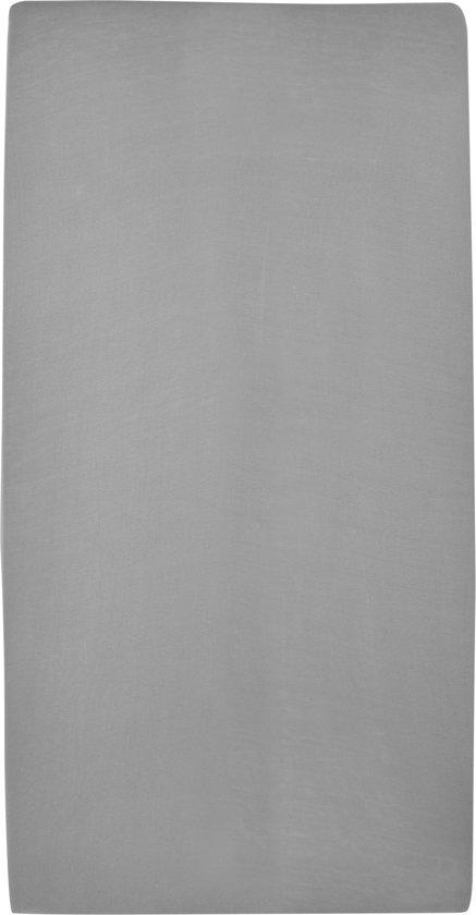Meyco jersey hoeslaken 2-pack - 70x140/150 - grijs
