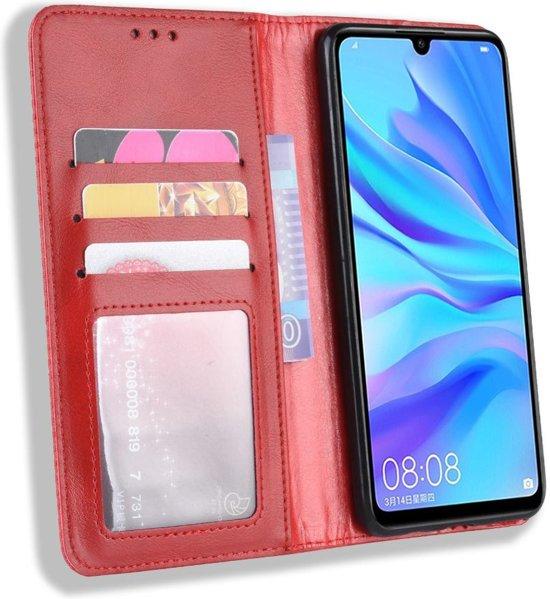 Huawei P Smart Plus 2019 Vintage Portemonnee Hoesje Rood