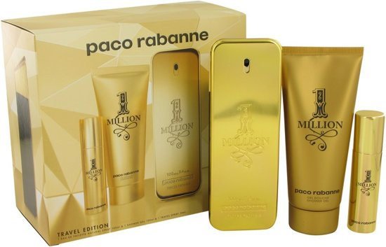 Paco Rabanne 1 Million -- - Gift Set 100 ml Eau De Toilette Spray   .34 oz Mini EDT Spray   100 ml Shower Gel Men