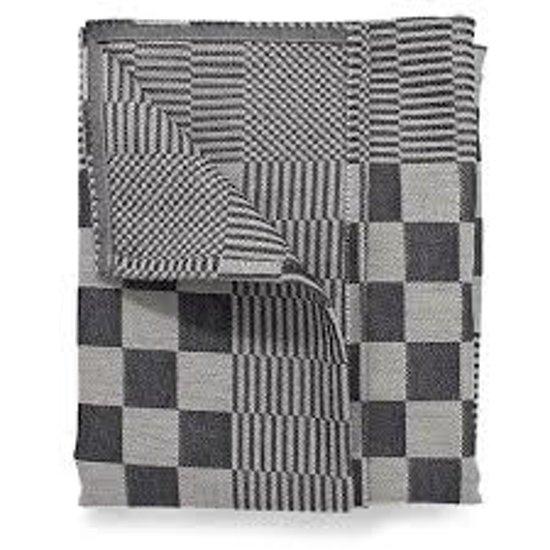 Treb Horecalinnen Theedoeken - 60x65 cm - Zwart en Wit geblokt - 6 stuks