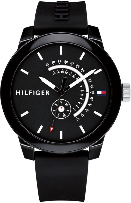 Tommy Hilfiger TH1791483 Horloge - Siliconen - Zwart - Ø44mm