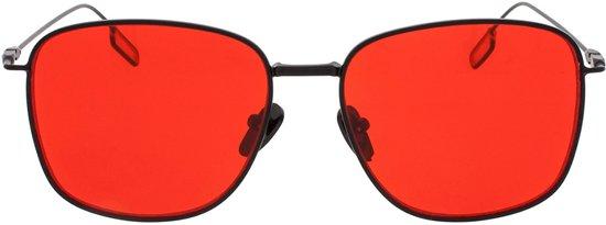 d0518281fe135e Icon Eyewear Zonnebril SPHINX - Mat Zwart montuur - Rode glazen