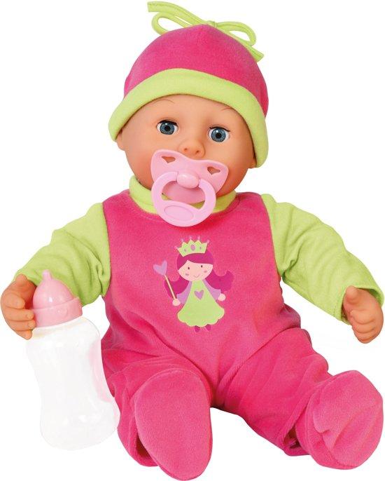 Bayer Mijn Eerste Woordjes Babypop - 38 cm - Roze/Groen