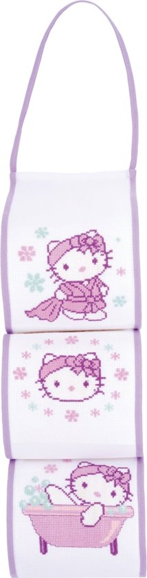 Toiletpapierhouder kit Hello Kitty in de badkamer - Vervaco - PN-0149236