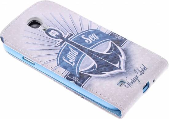 Ancre Conception Tpu Flip Pour Samsung Galaxy S4 39urKm