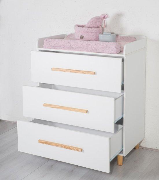 Cabino - Babykamer - Stockholm -3-delige - Ledikant - Commode - Kledingkast - Wit