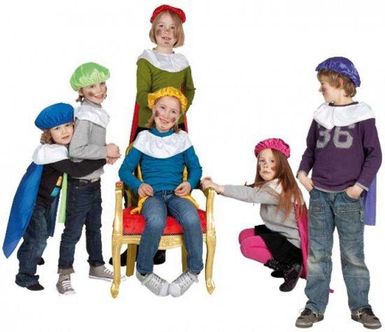 Pieten baret en cape voor kinderen  geel