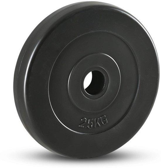 RS Sports Halterschijf - Kunststof - 2x 2.5 kg - Ø 30 mm
