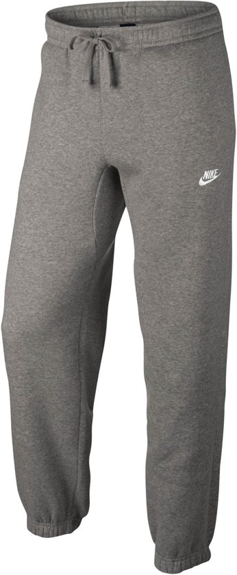 Nike Sportswear Pant CF Fleece Club Sportbroek Heren - Dk Grey Heather/White