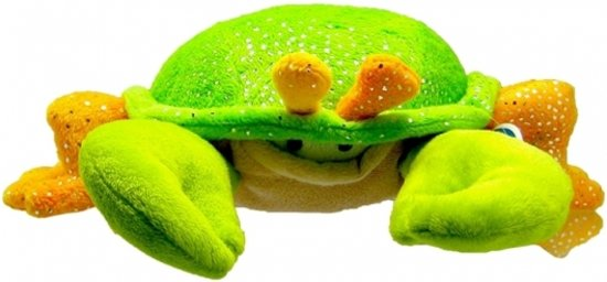Pluche krab knuffel groen/oranje 23 cm - knuffeldier