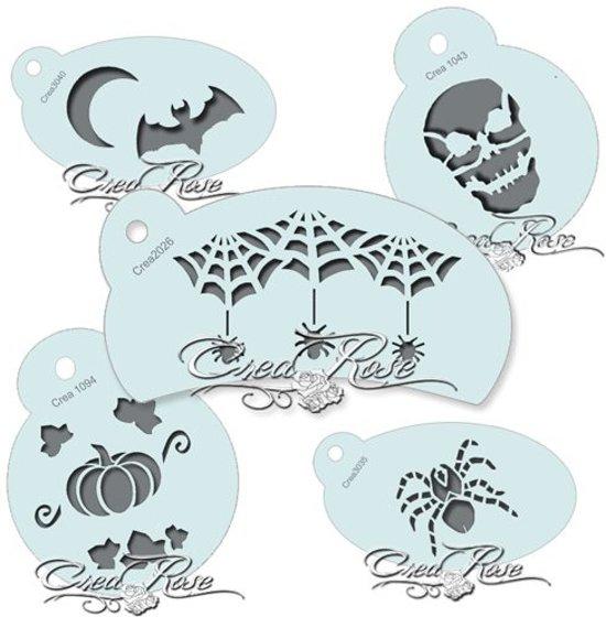 Pompoen Halloween Sjabloon.Schmink Sjabloon Halloween Set