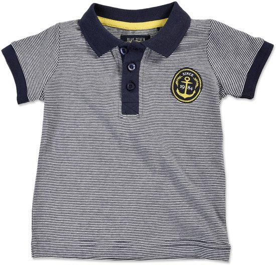 45bb03966deac6 bol.com | Blue Seven Jongens Poloshirt - donker blauw - Maat 86