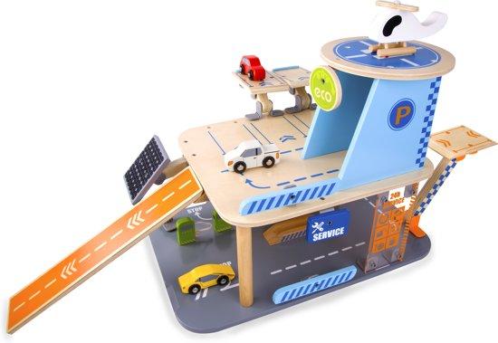 Houten Garage Janod : Bol.com classic world garage groen met autos en helikopter