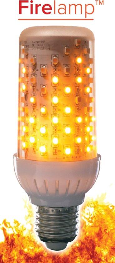 LED Fire lamp met vuur-simulatie  HELDER (voor fitting onder)