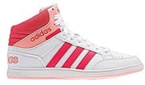 Adidas Hoops Kinderschoen - Wit/Coral - Maat 31