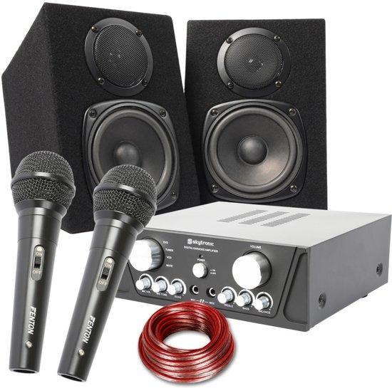 karaoke set maxi capri boxen, microfoon, 400W