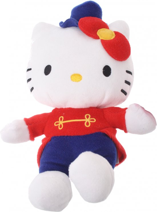 Hello Kitty Knuffel Clown Meisjes Rood 17 Cm