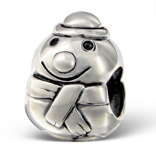 Sneeuwpop | Bedel | Sterling 925 Silver (Echt zilver) | Past op vele merken | Nikkelvrij